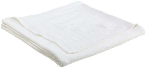 Westpoint Home 100-Percent Cotton Twin Blanket, White