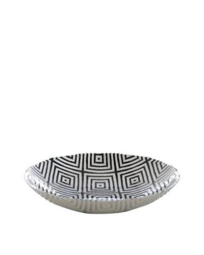Shiraleah Small Kilim Bowl, Black