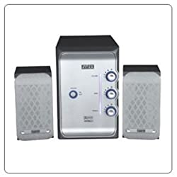Intex 2.1 Multimedia Speaker It-2600Wp B W Suf Black Speakers