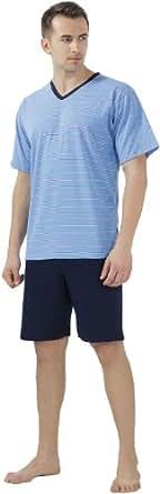 Cornette Hommes Ensemble de Pyjama CR-330 (Bleu, M)
