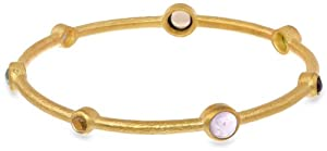 Eddera Jewelry Medici Multi-Stones Bangle Bracelet, 8