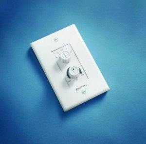 Casablanca Fans W 81 Dual Rotary Wall Control Almond and White Finish