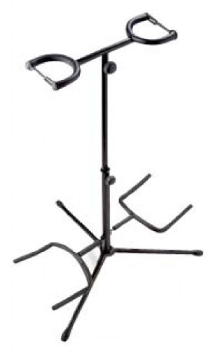 Stagg Double Guitar Stand With Neck Support - Black