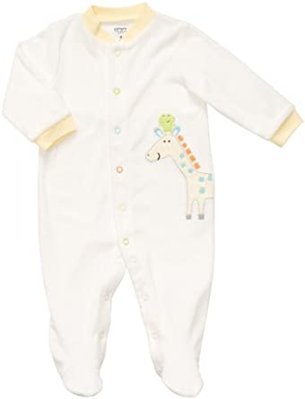 Carter's Terry Snap - White Solid Giraffe-9M