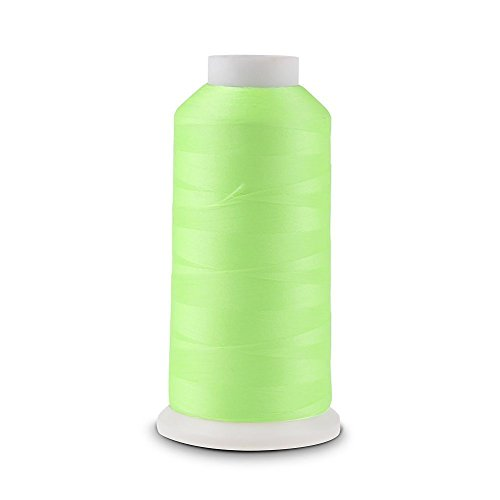 Green Glow 1000 Yards Luminous Glow In The Dark Machine Embroidery / Sewing DIY Thread no.03