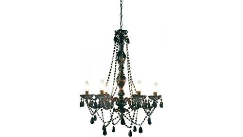 kare design 64306 - lampadario lampada a sospensione barocco starlight nero 6 luci
