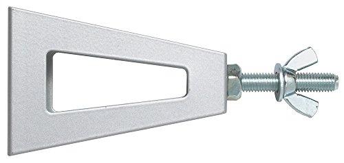 Felgenhalter, Reifenhalter, 2 Stück, H x T: 85 x 160 mm, weißaluminium, 18133-00119