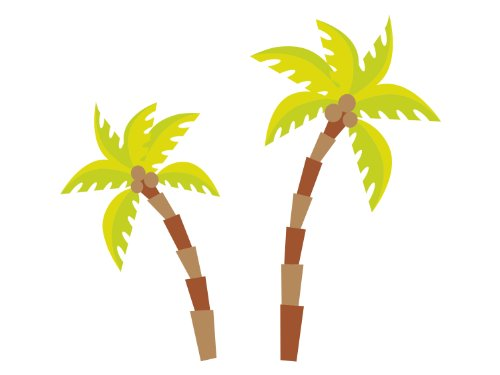 Palm Tree Fabric Wall Decals, Comes With 2 Palm Trees, Safari Tree Decor, Repositionable, Reusable, Non Toxic