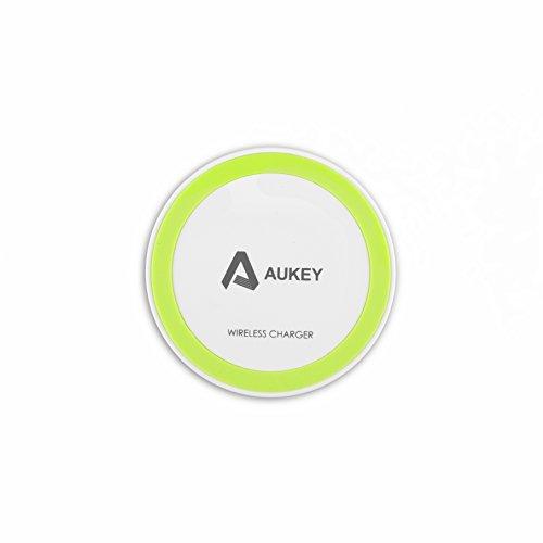 Aukey Qi充電パッド ワイヤレス充電パッド 無接点充電パッド ワイヤレスチャージャー 置くだけ充電 非接触充電 無線充電器(ホワイト)LC-M1