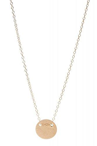 By Boe - Halskette Medaillonpendant - Silber vergoldet