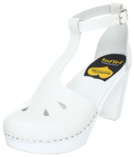Swedish Hasbeens T-Bar Sandal Fashion Sandals Women White WHITE Size: 6.5 (40 EU)