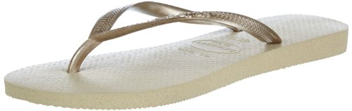 Havaianas Slim, Infradito Donna, Sand Grey/Light Golden, 39/40 EU (37/38 BR)