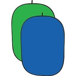 Impact Collapsible Background - 5 x 7\' (Chroma Blue/Chroma Green)