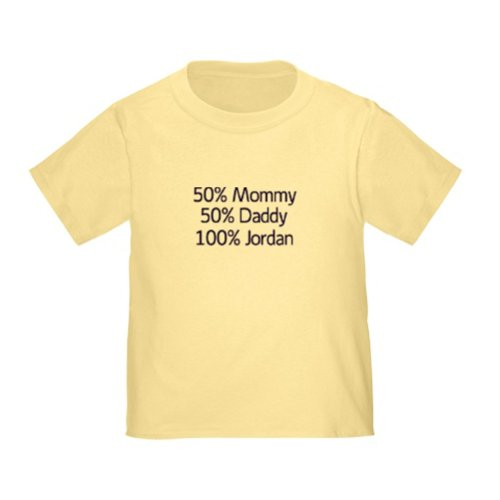 Personalized 100% Jordan 50% Mommy 50% Daddy Baby Infant Toddler Kids Shirt - Customize With Any Boy Or Girls Name, Christmas Present Custom Gift Collection front-930606