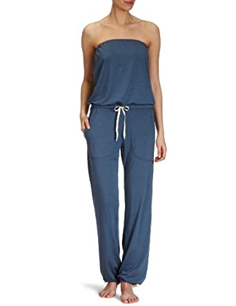 okha damen pyjama jumpsuit fritzi jersey gr 40 blau jeans bekleidung. Black Bedroom Furniture Sets. Home Design Ideas