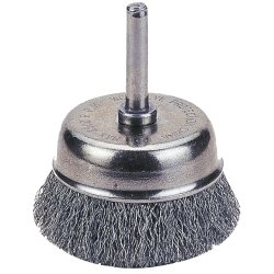 Firepower 1423-2108 Wire Cup Type Crimped Wire Brush with 2-1/2-Inch Diameter and 1/4-Inch Shank