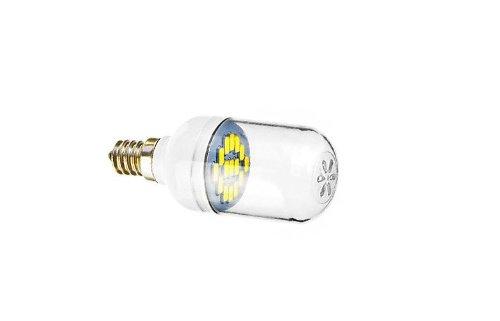 E12 1.5W 15X5730Smd 90-120Lm 5800-6200K Cool White Light Led Spot Bulb (220-240V)