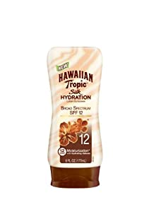HAWAIIAN Tropic Silk Hydration SPF 12 Sunscreen Lotion, 6 Fluid Ounce