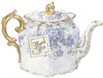 Carol Wilson Teapot Boxed Thank You Cards 8 Ct.