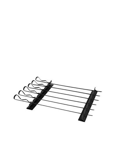 Charcoal Companion Set of 6 Non-Stick Kabob Skewers & Rack