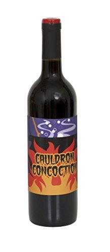 Halloween Wine Bottle Labels, 4ct