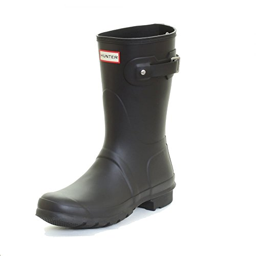Hunter Women's Original Short Snow Boot, Black, 8 M US (Woman Short Rain Boots compare prices)