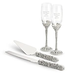 Madison Avenue Wedding Set Personalized Wedding Champagne Glasses