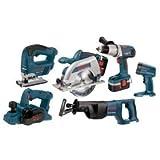 Bosch CPK60-18 18-Volt Ni-Cad Cordless 6-Tool Combo Kit