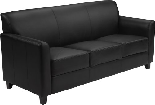 Swell Flash Furniture Hercules Diplomat Leather Sofa In Black Gmtry Best Dining Table And Chair Ideas Images Gmtryco