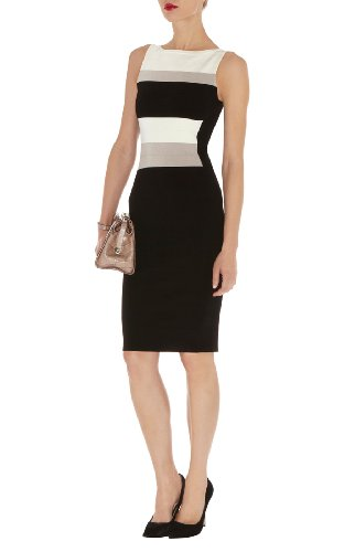 Graphic Block Bandage Knit Dress