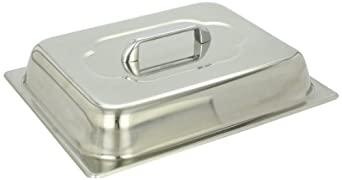 "Benchmark 56747 Half-Size Domed Lid, 12-1/2"" Length x 10-1/4"" Width x 3"" Height"