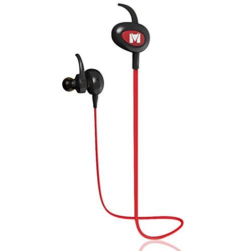 Monstercube Auricolare Bluetooth 4.1 Headset Stereo per Sport, Grigio Cuffia Sportivo, Earphone Bluetooth Cuffie Wireless con Microfono per iPhone 6 plus / 6 / 5s / 5c / 5, Samsung Smartphone, Tablet PC, ecc