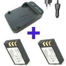 Eforce - Chargeur + 2 batteries Li ion Enel9 pour APN Canon - 1200 mah