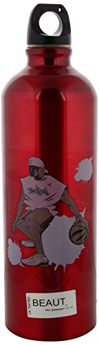 Beaut Stainless Steel Printed Water Bottle, 1000 ml, Pack of 3