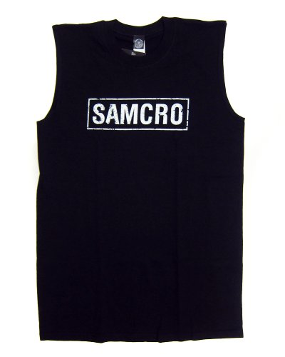 Sons of Anarchy SAMCRO Men's Licensed Sleeveless T-Shirt (M)