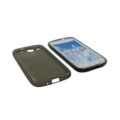 Custodia in silicone semi-rigido (TPU) nero per Samsung Galaxy Core I8260