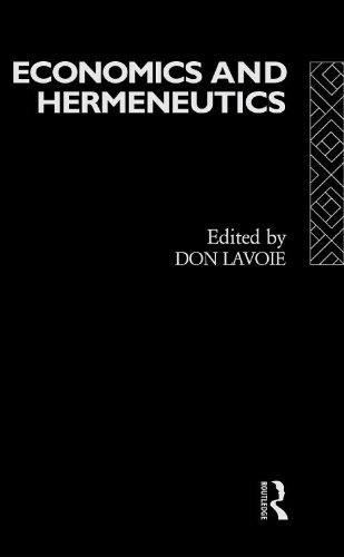 Economics and Hermeneutics