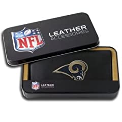 St. Louis Rams Embroidered Leather Checkbook Cover by Rico