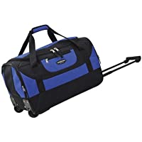 Travelers Club Luggage 20-in. Wheeled Duffel Bag (Blue/Pink)