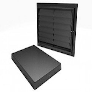 Crawl Space Door with Louvers for Crawlspace Access, Ventilation, or Encapsulation (12