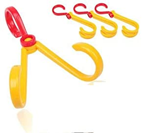 Portable Conduplicate Pothook Hook Hanger Clothes Plastic Household Rack Holder Maximum 3kg High Quality Abs 3 Pcs/pack