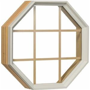 White Vinyl Octagon Window