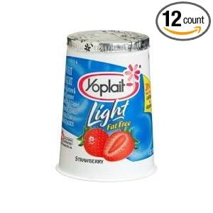 Yoplait Light Strawberry Yogurt, 6 Ounce -- 12 per case.