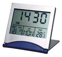 Horloge - 19.733.015 - Quartz Digitale - Pendule/Réveil De Voyage - Alarme - Snooze - Compte À Rebours - Thermomètre - Calendrier - 12/24h - 7x6x6 cm