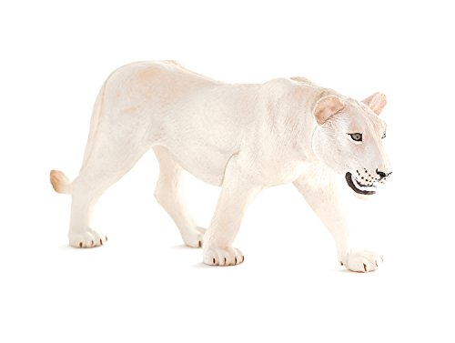MOJO Fun 387207 White Lioness - Realistic International Wildlife Toy Replica