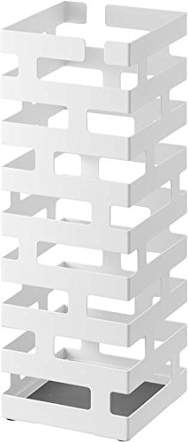 Hang or Stand Modern Umbrella Rack in White Finish