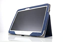 MoKo Slim Folding Cover Case for Samsung Galaxy Tab 3 10.1 Inch GT-P5200 / GT-P5210 Android Tablet, BLACK (with Smart Auto Wake / Sleep Feature)