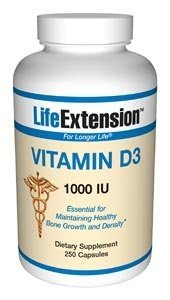 Life Extension - Vitamin D3 (1000iu), 1000, 250 capsules