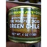 Trader Joes New Mexico Hatch Valley Fire Roasted Diced Green Chile 4 Oz. (Pack Of Four)
