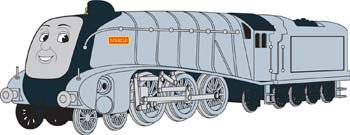 HO Spencer the Silver Engine w/Moving Eyes